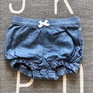 Carters denim bloomers for 9 month old girl